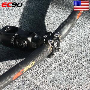 MTB-Handlebar-Carbon-31-8-25-4-660-760mm-Flat-Riser-Bar-Bike-Adjust-120-Stem-US