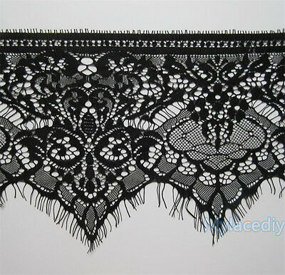 3M Eyelash Scalloped Lace Edge Trim Ribbon Wedding Embroidered Applique Sewing
