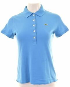 LACOSTE-Womens-Polo-Shirt-EU-40-Medium-Blue-Cotton-DP10