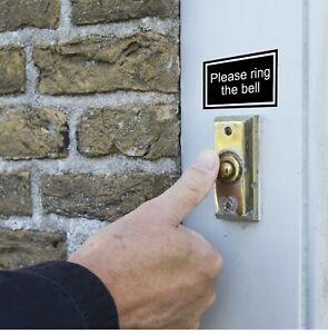Please ring the bell sticker weatherproof self-adhesive vinyl easy peel & stick