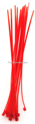 """200 Red 6/"""" inch Wire Cable Zip Ties Nylon Tie Wraps 40lb USA Made Tiger Ties"""