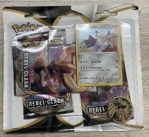 Pokemon-Sword-amp-Shield-Cards-Rebel-Clash-3-PACK-1-Coin