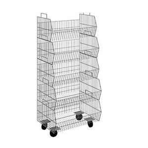 Attirant Image Is Loading Mobile Stacking Wire Storage Basket Display Unit On
