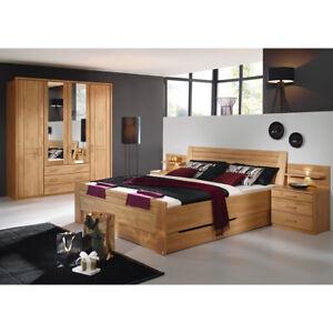 Schlafzimmer Sitara Kleiderschrank Bett Nachtkommode in Erle natur ...