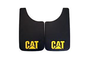 CATERPILLAR UTE TRAILER 4x4 2 x  CAT MUD FLAP BLACK w RAISED CAT LOGO