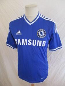 Maillot Bleu sur S Adidas Taille CHELSEA football vintage de