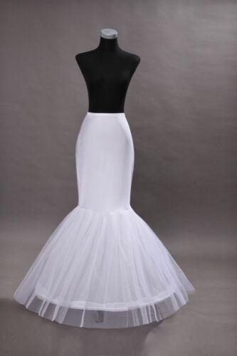1 Hoop Fishtail Mermaid Cocktail Bridal Wedding Petticoat Underskirt Crinoline