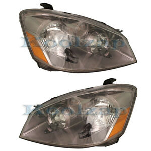 Halogen Headlight Headlamp Head Light Left Right Side SET PAIR For 05-06 Altima