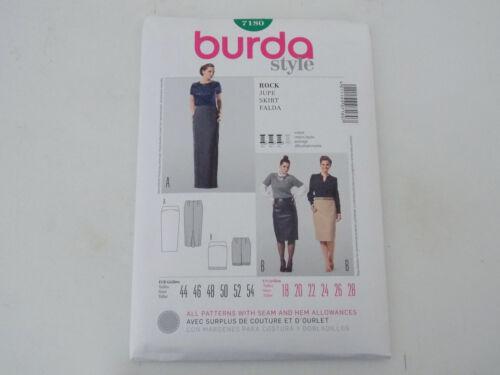 BURDA SEWING PATTERN MISSES/' SKIRT FITTED # 7180 SIZES 18 THRU 28