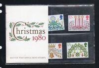 QEII 1980 Presentation Pack Christmas 1980 Stamps