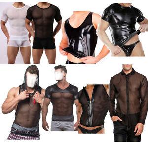 6de9efe5423342 La foto se está cargando Menmesh-Prendas-para-el-torso-Camiseta-Blusa-Camisa -