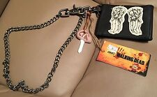 Daryl Dixon THE WALKING DEAD Wings Men's Wallet with Chain & Key Cover