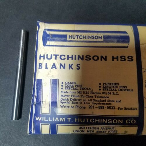 5 Pieces. HSS Drill Blank .1875 3//16