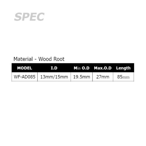 WF-AD085 Rodcraft Wood-Root Common Rear Grip for Rod Building