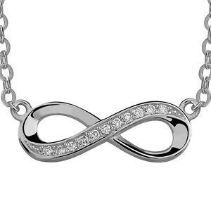 Unendlichkeit-Ewigkeit-mit-Cz-Solid-925-Sterlingsilber-Halskette