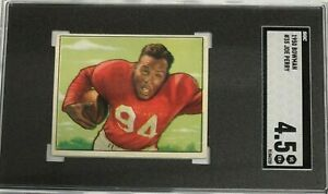 Joe-Perry-49ers-1950-Bowman-Football-RC-Rookie-Card-35-Graded-SGC-4-5
