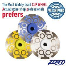 Zered 4 Diamond Grinding Cup Wheel For Granite Quartz Concrete