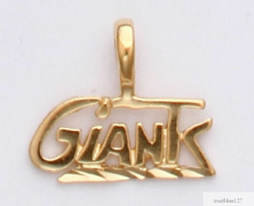 New York Giants Team Name Necklace Pendant 24k Gold Charm Fan Jewelry NFL