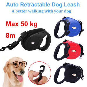 Automatique-Retractable-8m-50kg-Chien-Plomb-Extensible-Pet-Laisse-Collier-Cord
