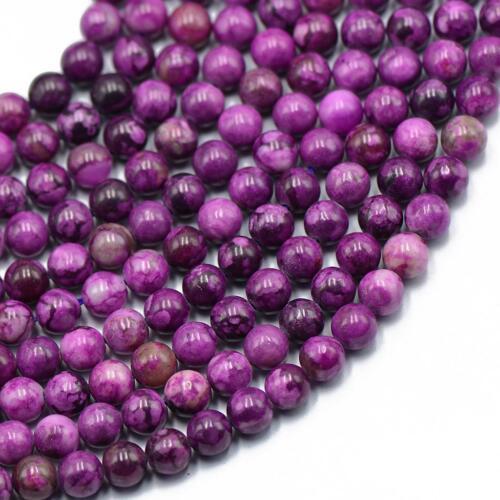 Violet Charoïte Gemstone en vrac Round Beads Spacer BEAD 6mm 15