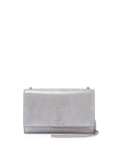 Chain Suede 100 Saint bolso Yves auténtico Bandolera Kate mujer Laurent Nueva Silver x8zp8R