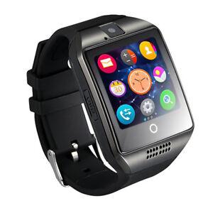 Q18-Premium-SmartWatch-SCHWARZ-Uhr-Bluetooth-Samsung-Android-SIM-Kamera-SONY