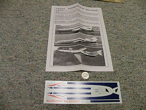 Flight Path decals 1/144 FP44-308 Allegheny Old 727-200    Box 12