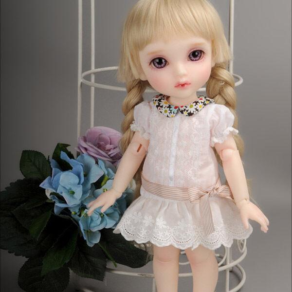 """NQW Club Dress Set Dollmore 17/"""" 1//4 BJD doll clothes outfits  SIZE MSD White"""