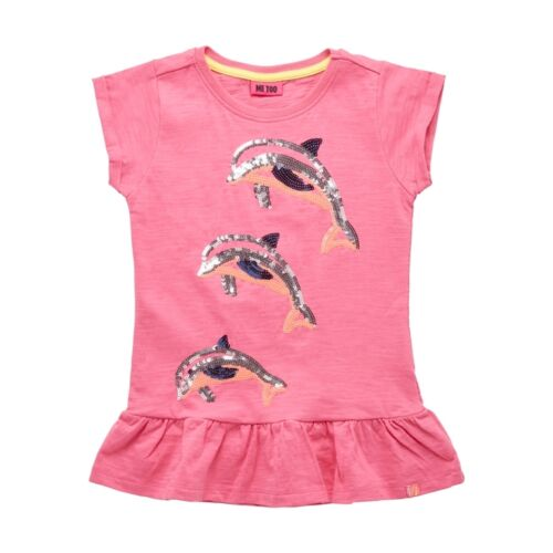 Me Too Neu Delfin Tunika Longshirt Gr 104 110 116 122 128 Pailetten Pink