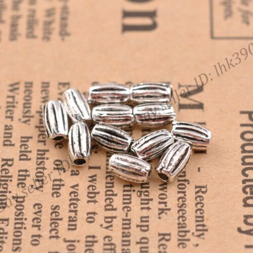 30//50//100Pcs Tibetan Silver Oval Charm Spacer Beads Jewelry Findings