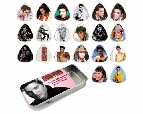Elvis Guitar Pick Quality Gift Tin Set of 20