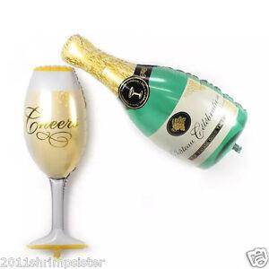 "39"" Foil balloon Big Wine bottle glass KTV Champagne party decoration wholesale"