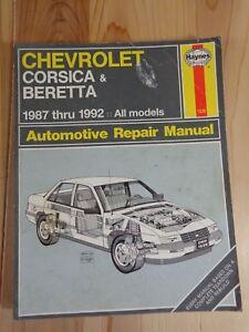 haynes automotive repair manual 1628 chevrolet corsica beretta 1987 rh ebay com Haynes Repair Manuals Mazda Haynes Repair Manual Online View