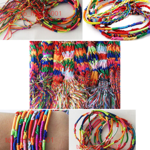 50pc Wholesale Lots Silk Macrame Hand-weave Friendship Bracelets Anklet