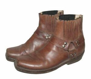 Herren-Stiefeletten-niedrige-Biker-Stiefel-Boots-in-braun-ca-Gr-41-5