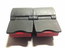 CARLTON black AIRTEC suitcase SIDE latch USED replacement PAIR spare PART