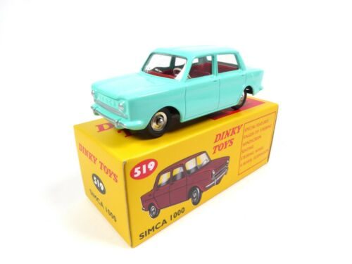 DINKY TOYS DeAGOSTINI VOITURE MINIATURE MODEL CAR 519 Simca 1000