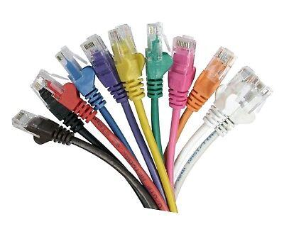 Network Lead Rj45 Cat5e Ethernet Cable Snagless 10m 15m 20m 25m 30m 40m 50m Lot