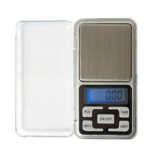 LED Mini Digital Electronic Scale Stainless Steel Jewelry Balance Weighing Tool