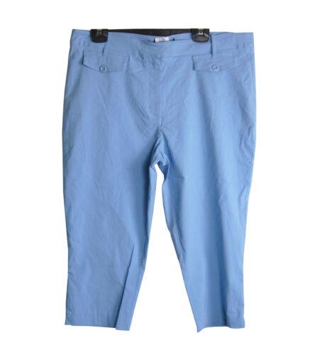 Ladies pantaloni corti blu cielo 16 18 20 estate vacanze Pants Plus Taglia BLA