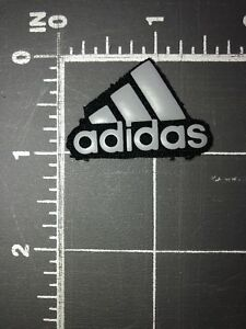 Details about Adidas Brand Logo Patch Rubber Sportswear Apparel Athletics Clothing Jersey Gear