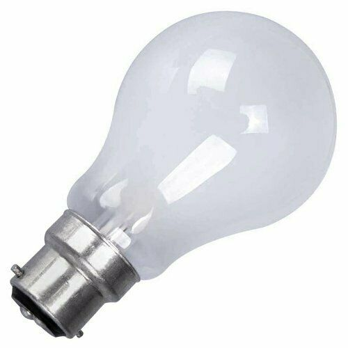 Status 60w Watt BC B22 Bayonet Cap Push In Clear Incandescent Light Bulb Lamp x 4