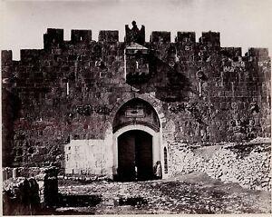 Adaptable Jérusalem Palestine Israëlphoto Albumine Tirage Vers 1890 Petit Format