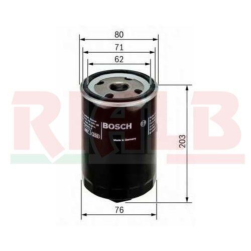 Cartuccia Filtro Olio Bosch Elemento Filtrante Oil Filter 0451103338