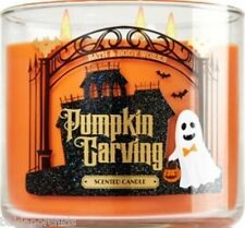 Bath & Body Works PUMPKIN CARVING  3 Wick 14.5 oz Jar Candle Halloween 2015