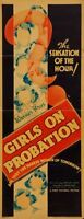 Girls On Probation 14inx36in Insert Movie Poster Replica