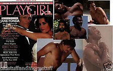 PLAYGIRL 1-82 JANUARY 1982 HAIRY ANTONIO C JANE FONDA SAM JONES LYLE WAGGONER DA