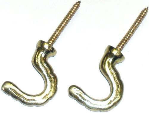 FREE P/&P Porte Crochet x2 Gold rideau embrasses crochets Vis en