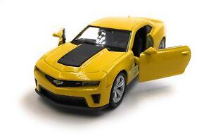 Coche-modelo-Chevrolet-Camaro-zl1-muscle-car-amarillo-auto-1-34-39-con-licencia-oficial