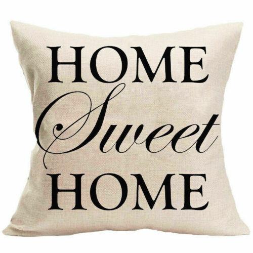 Cotton Linen Pillow Case Car Sofa Bed Waist Throw Cushion Cover Home 18in